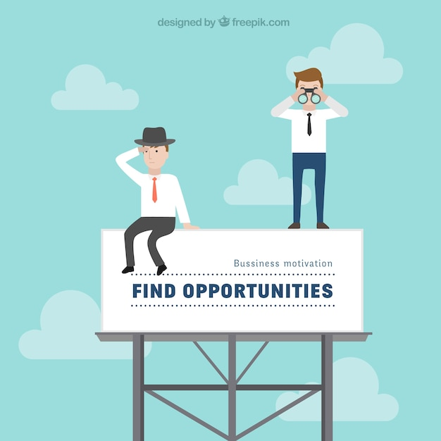 Business motivational illustration  Free Vector
