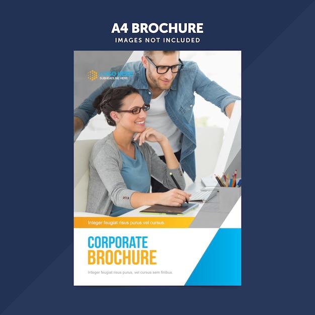 Бизнес многоцелевой лист листовки листовки a4 Premium векторы