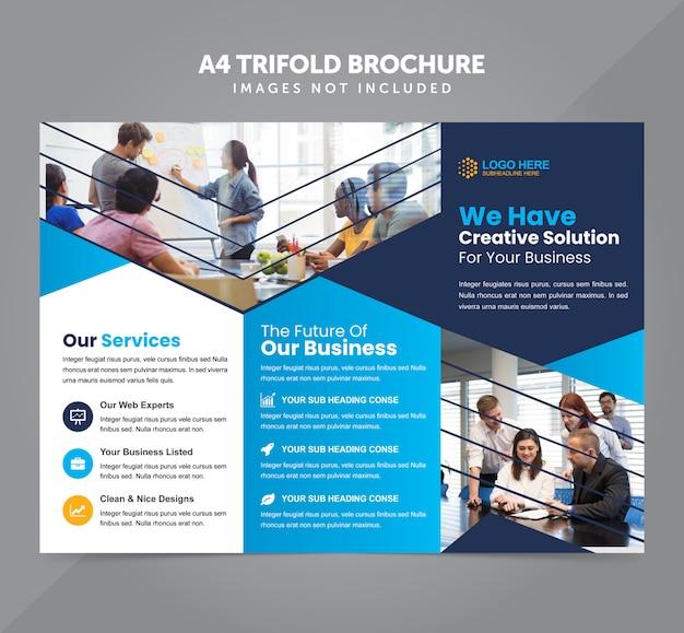 Business multipurpose a4 trifold brochure vector template Premium Vector