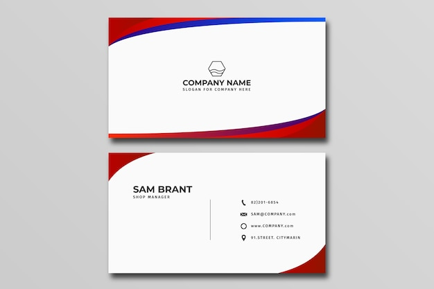 business name card template  premium vector