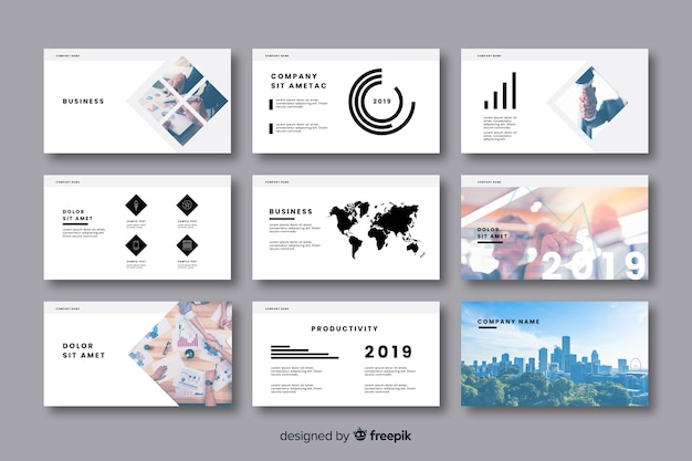 Business office card collection Free Vector