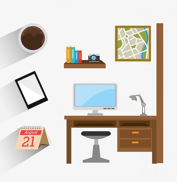 Business office and human Premium Vector