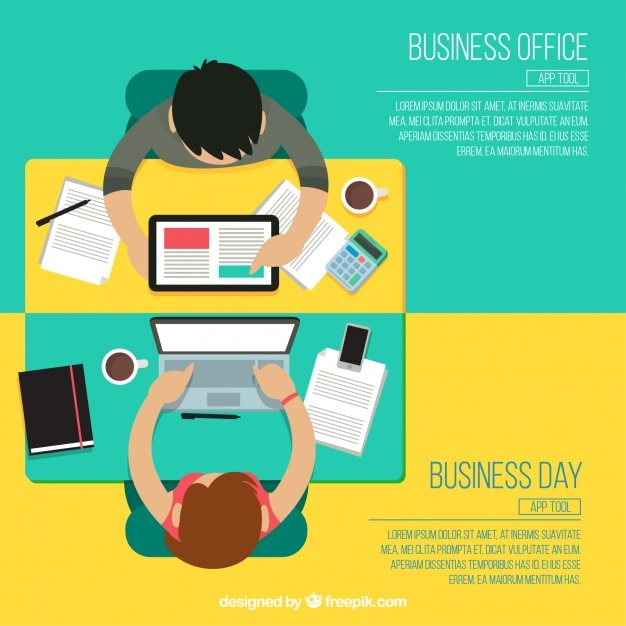 Business office infographic