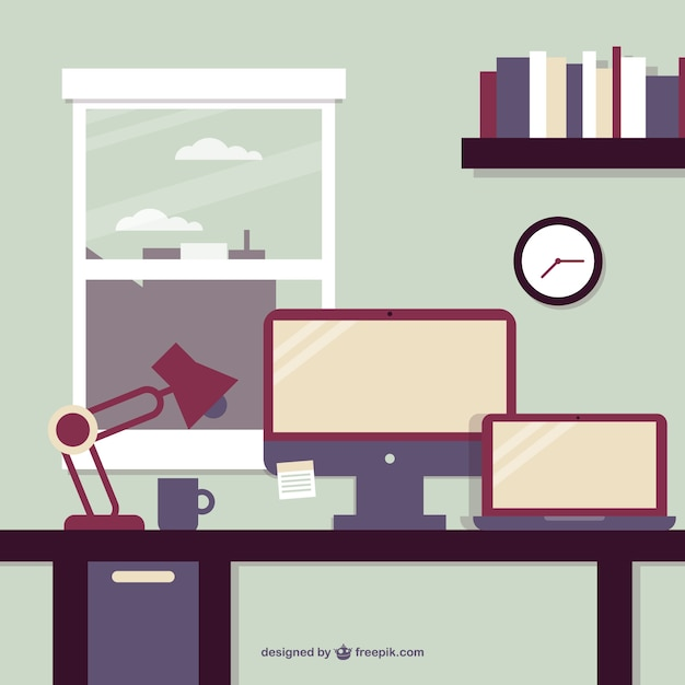 Business Office Window View Vector Vector Free Download
