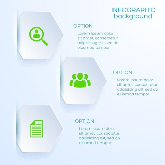 비즈니스 옵션 infographic 템플릿 무료 벡터