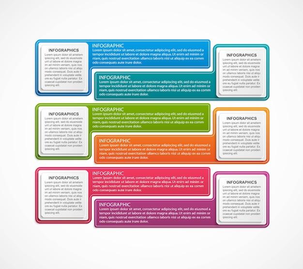 ビジネスオプションインフォグラフィックデザインテンプレート Premiumベクター