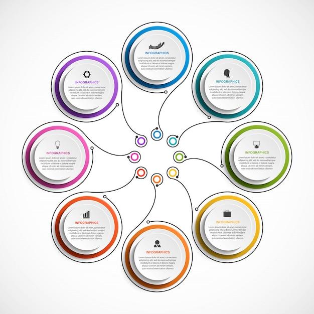 Business options infographics. Premium Vector
