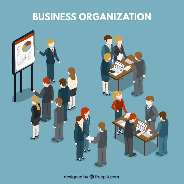 Business organization illustration Vector | Free Download