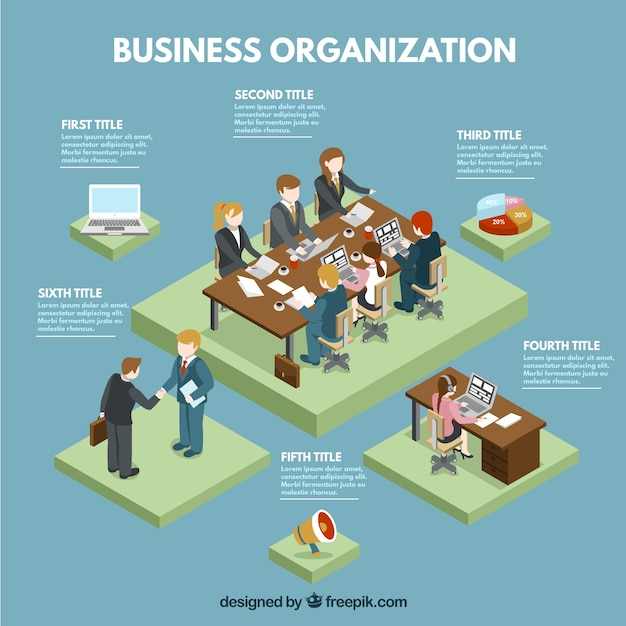 Business organization infographic template Free Vector