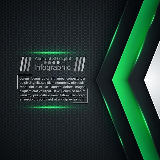 Business paper template - origami background Premium Vector