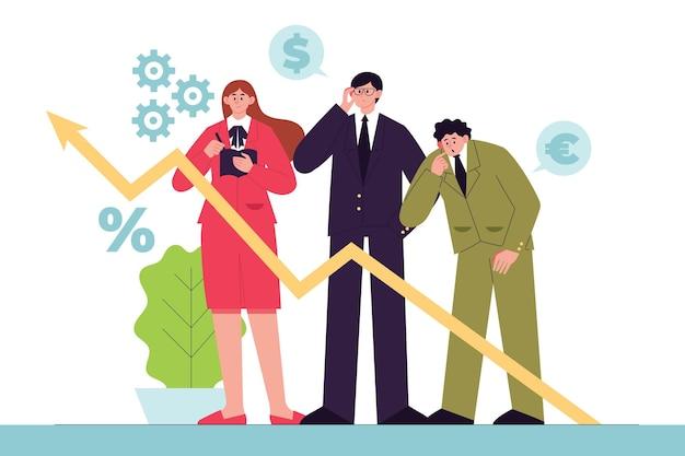 Gente di affari che analizza i grafici di crescita Vettore gratuito