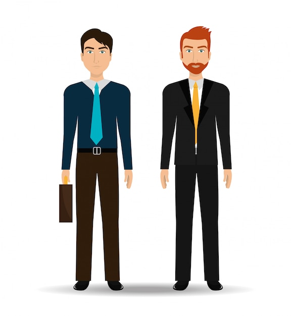 ビジネスマンと起業家 無料ベクター