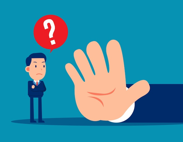The business people are forbidden. stop gesture concept Premium Vector