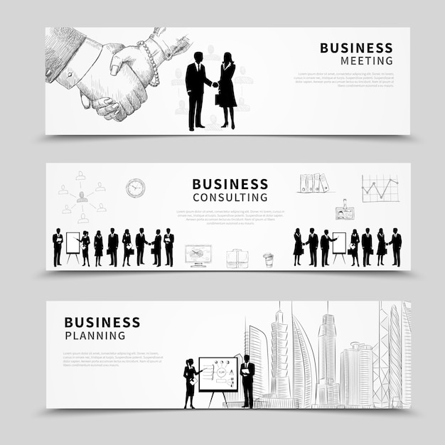 Business people banner Free Vector