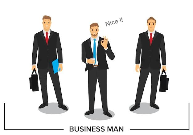 Business people character design Premium Vector
