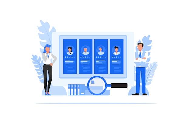 Business people character set  . human resources concept. Premium Vector