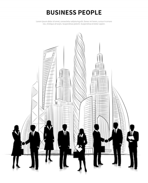 Business people concept Free Vector