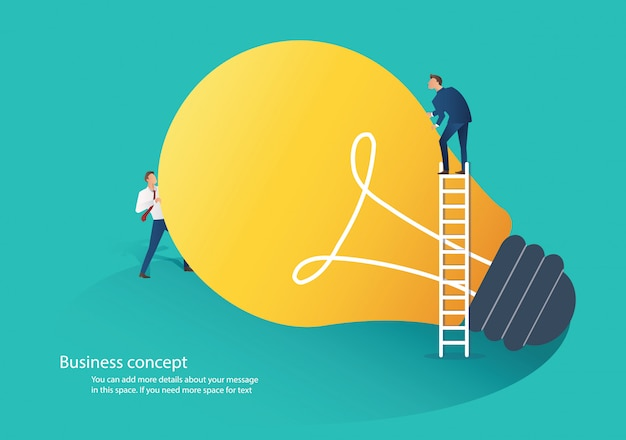 Business people cooperation idea concept Premium Vector
