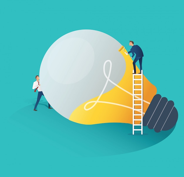 Business people creative idea concept Premium Vector