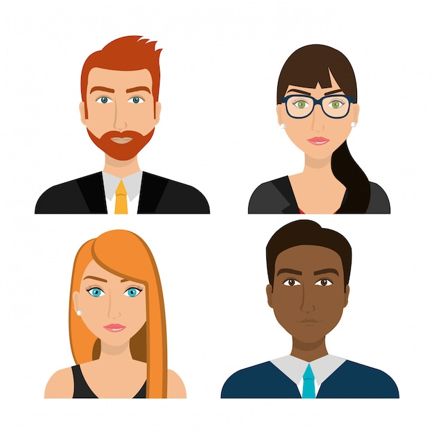 Business people and entrepreneur Free Vector