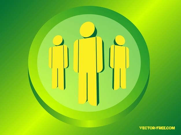 Business people graphics vector icon