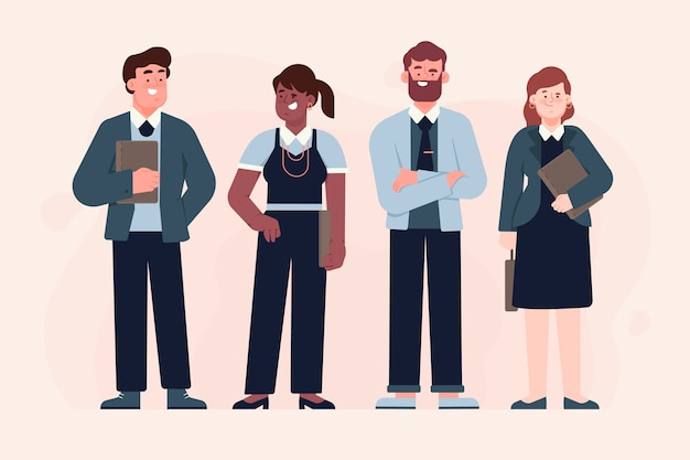 Business people illustrated Free Vector