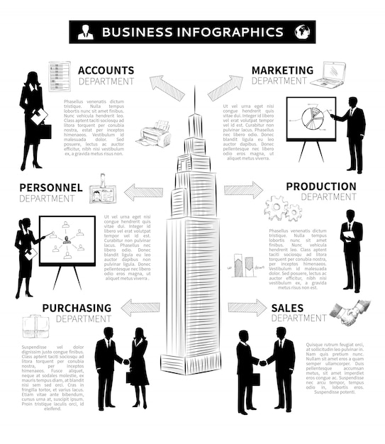 Business people infographics Free Vector