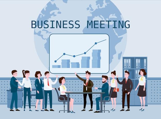 Business people meeting, teamwork or brainstorming Premium Vector