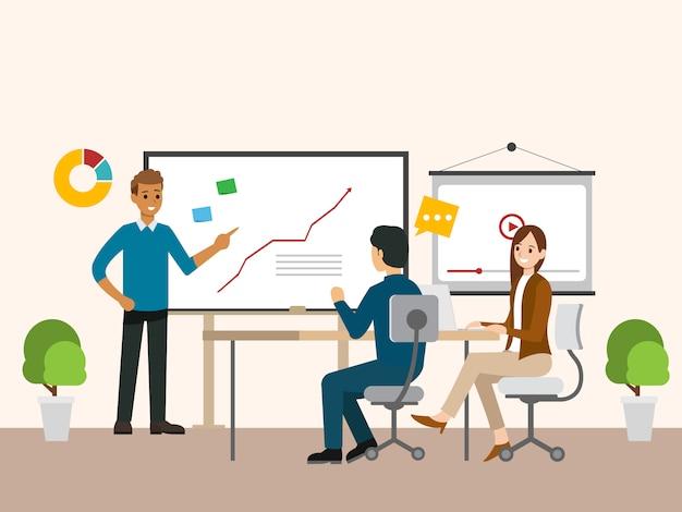 Business people meeting Premium Vector