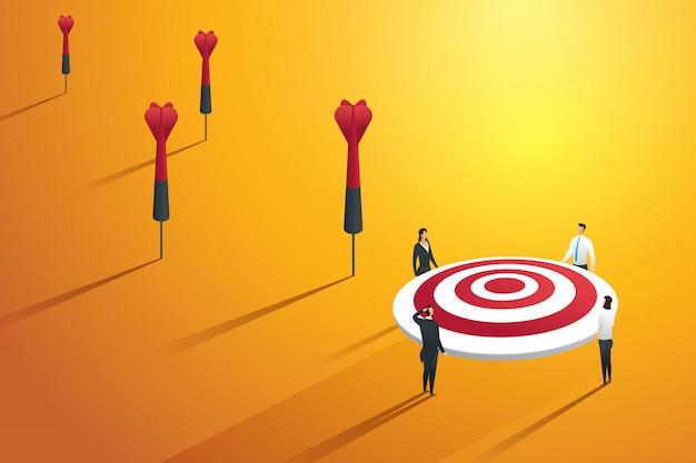 ビジネスの人々は目標ではなく、成功していません。図 Premiumベクター