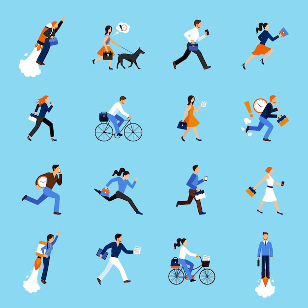 Business people running Free Vector