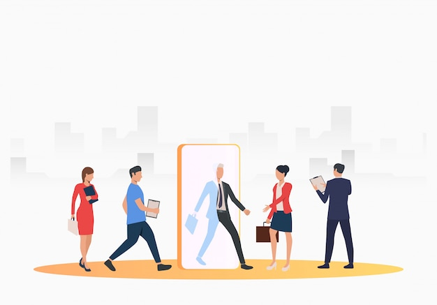 Business people searching for job applicants Free Vector