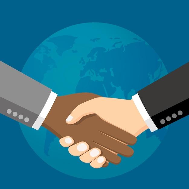 Business people shaking hands vector illustration Premium Vector