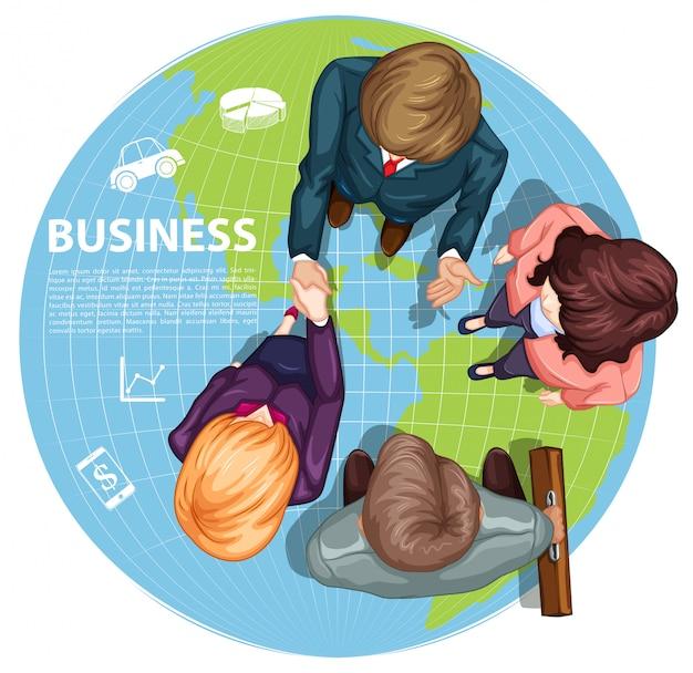 Business people shaking hands Premium Vector