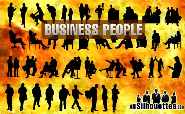 Business people silhouette 2