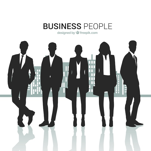 Business people silhouettes pack Free Vector