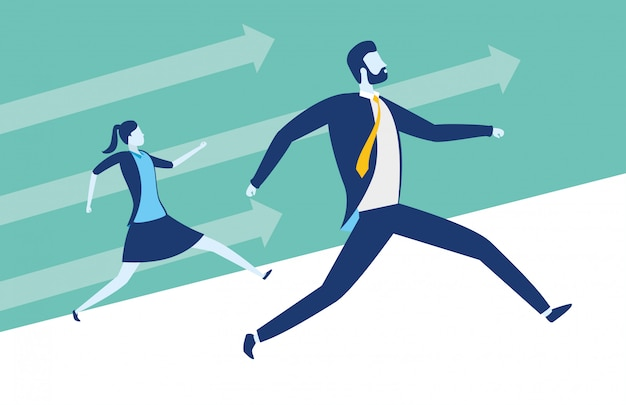 Business people success concept Free Vector