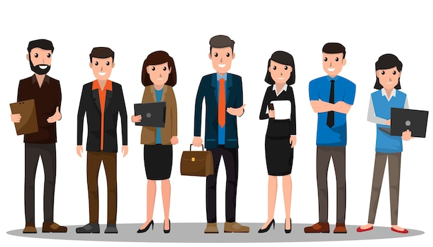 business people teamwork Premium Vector