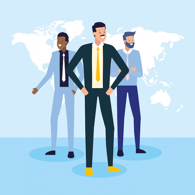 Business people and work concept Free Vector