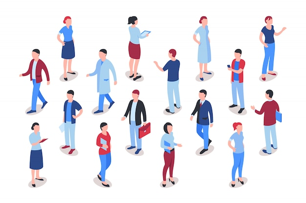 Business people working collection Premium Vector