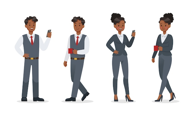 Business people working in office character design. no14 Premium Vector