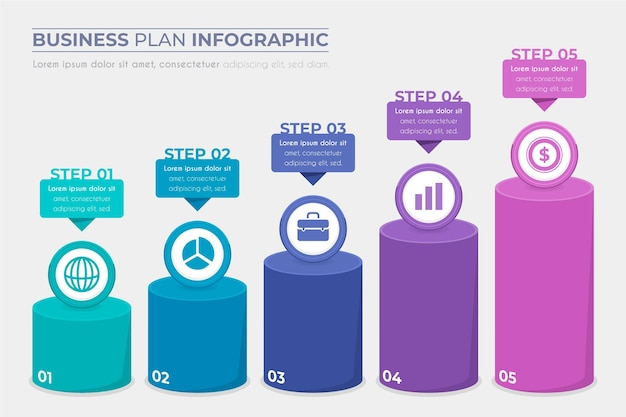 Business plan infographic concept Free Vector