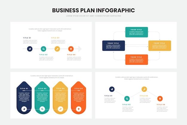 事業計画のインフォグラフィックデザイン 無料ベクター