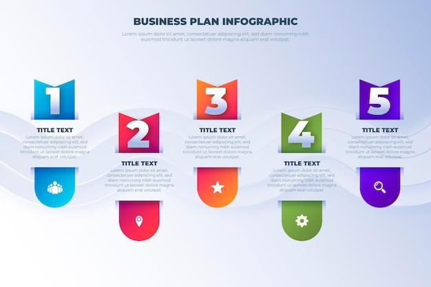 Бизнес план инфографики шаблон Бесплатные векторы