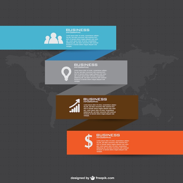 Free Business Infographic PowerPoint Template