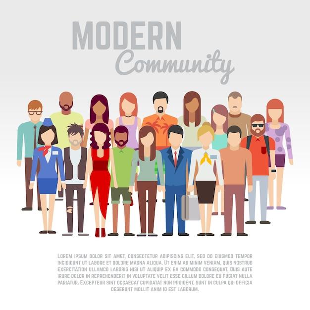 Business or politics community Premium Vector