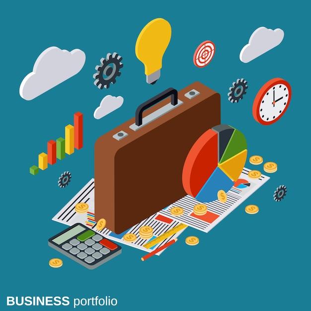 Business portfolio vector concept illustration Premium Vector