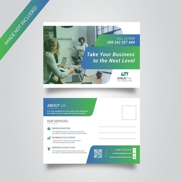 Business post card Premium Vector