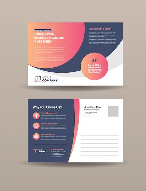 Business postcard Premium Vector