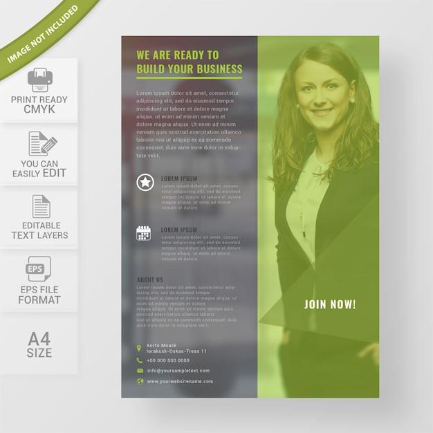 Business poster template Premium Vector